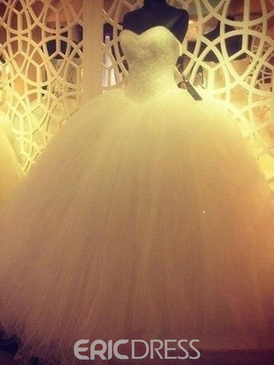 Ericdress Charming Beading Sweetheart Ball Gown Wedding Dress