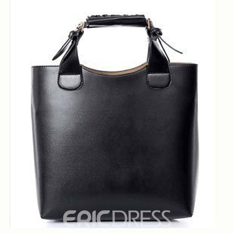 Ericdress Concise Large Capacity Pure Color Handbag