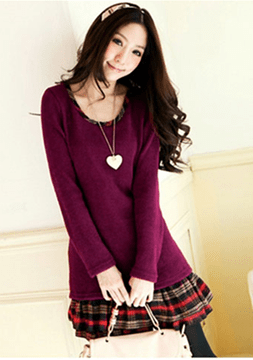 Ericdress Saleable Pleated Long Sleeves Casual Dress
