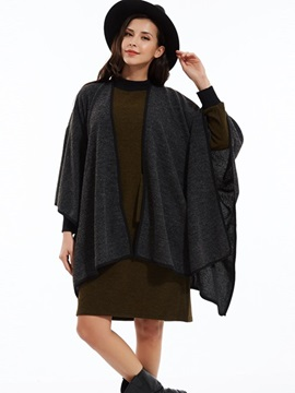 Ericdress Loose Plain Batwing Sleeves Cape