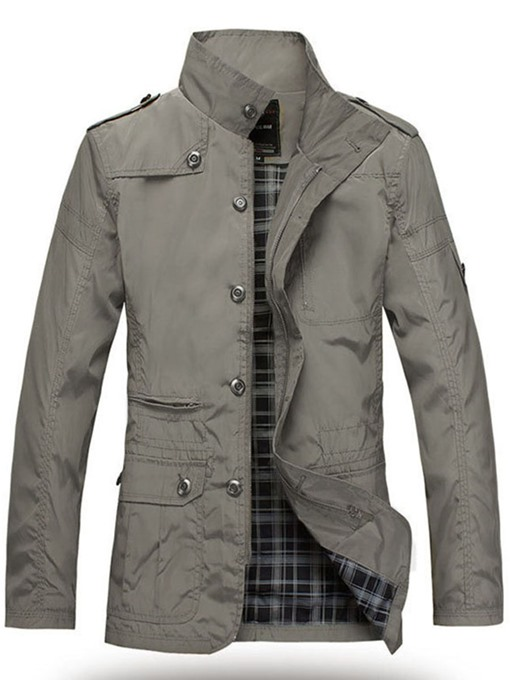 Ericdress Polyester Stand Collar Zip Slim Windproof Men's Jacket