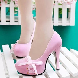 Ericdress Amazing Bowtie High-heel Pumps