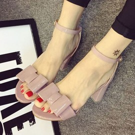 Ericdress Pretty Bowtie Chunky Sandals
