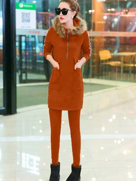 Ericdress Long Sleeve Hoodie Pencil Pants Suit