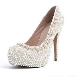 Little Flower&pearl Decoration Pumps