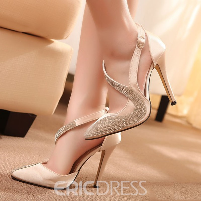 Rhinestone Point Toe Slingback Sandals