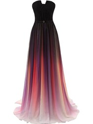 Ericdress Strapless Pleats Fading Color Evening Dress thumbnail
