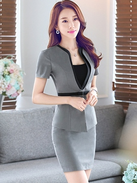 Ericdress Color Block Slim Bodycon Suit
