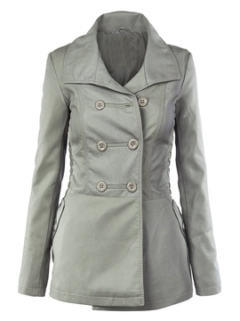 Ericdress Euro-American Style Double-Breasted Coat