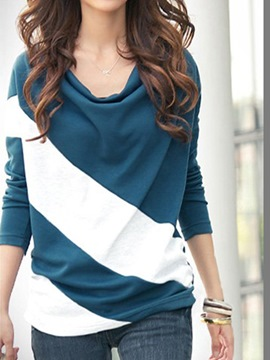 Ericdress Glamorous Leisure Split Joint Long Sleeves T-shirt