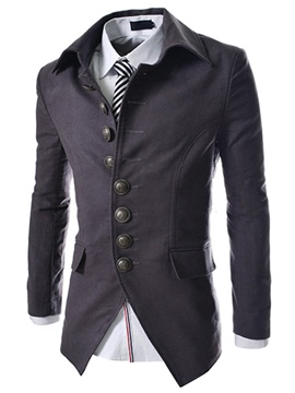 Lapel Single-Breasted Long Sleeve Blazer