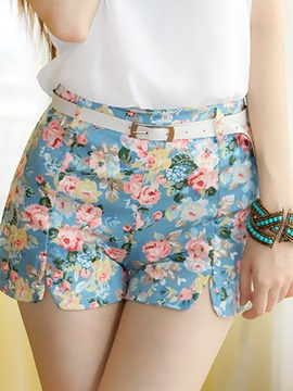 Ericdress Cute Floral Print Short