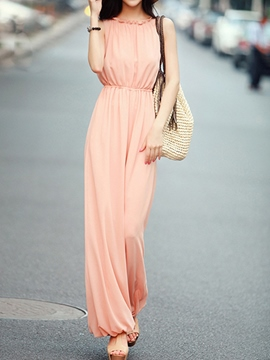 Ericdress Long Solid Color Jumpsuits Pants