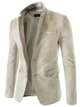 Ericdress Lapel Single-Breasted Long Sleeve Men's Blazer