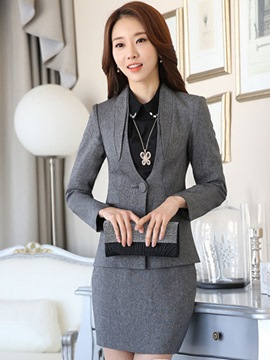Ericdress Solid Color V-Neck Formal Suit