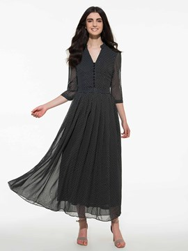 Ericdress Polka Dots Maxi Dress