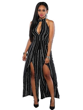 Ericdress Sexy Stripe Jumpsuits Pants