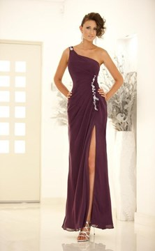 Ericdress Glamorous A-Line Floor-Length One-Shoulder Evening Dress