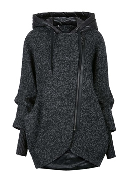 Ericdress Oblique Zipper Casual Cool Hoodie