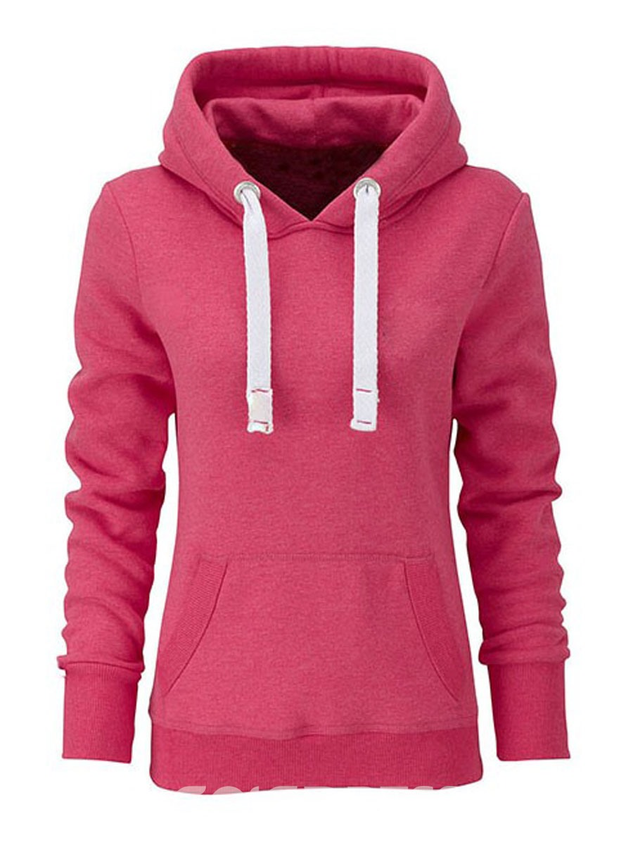 Ericdress Solid Color Long Sleeves Casual Hoodie 11067038