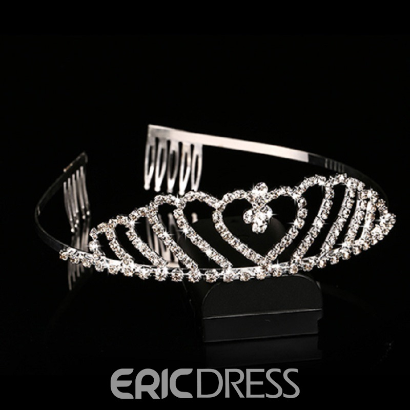 Ericdress Comely Sweet Shaped Alloy Rhinestone Bridal Tiara