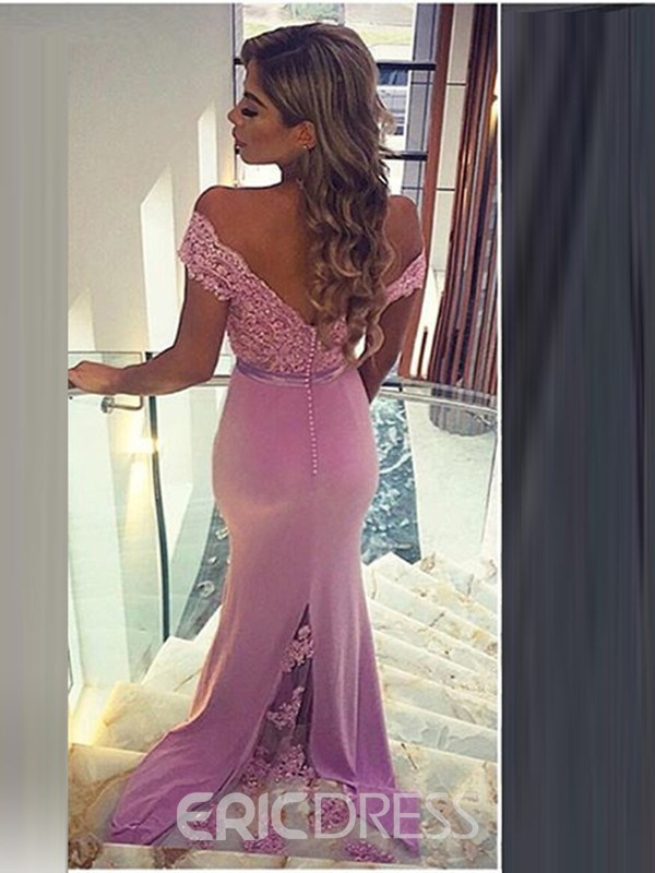 Ericdress Off The Shoulder Beading Sexy Evening Dress