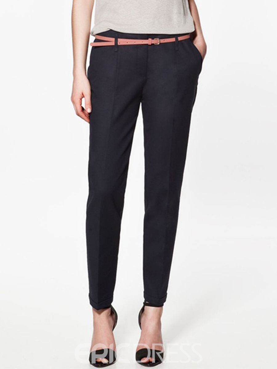 Ericdress Simple Seven Points Women's Dress Pants