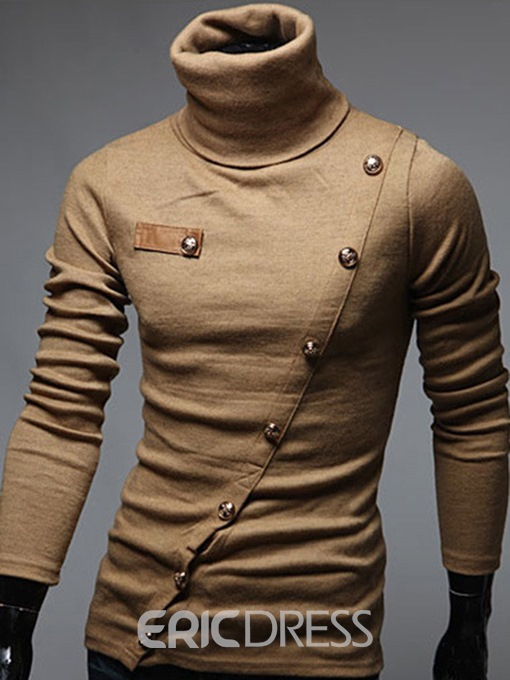 Ericdress Turtleneck Long Sleeve Men's Sweater