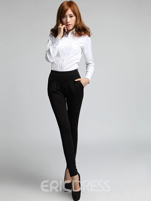 Ericdress Women's Plain High Waist Slim Pants