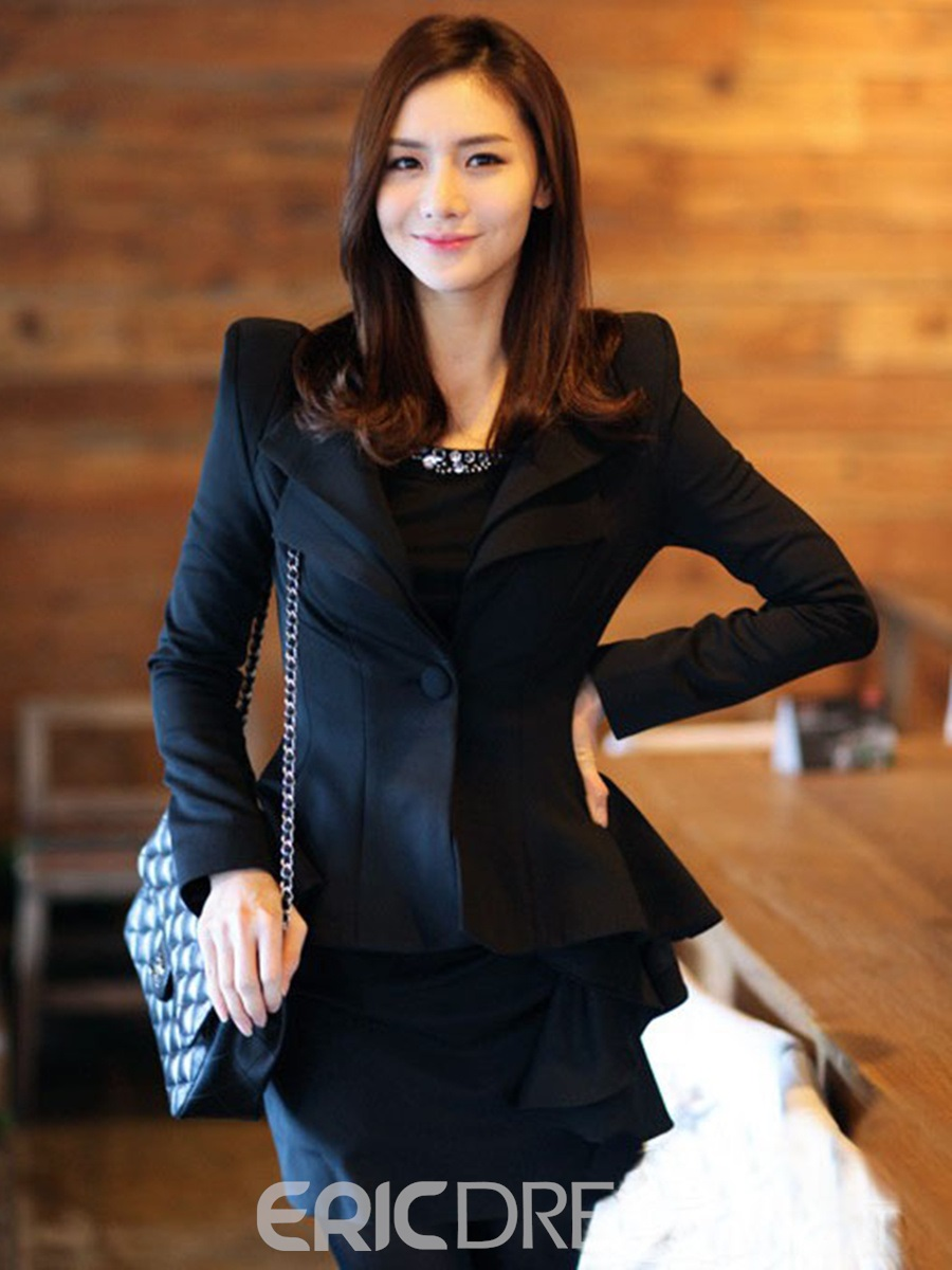 Ericdress Elegant Swallowtail One Button Blazer