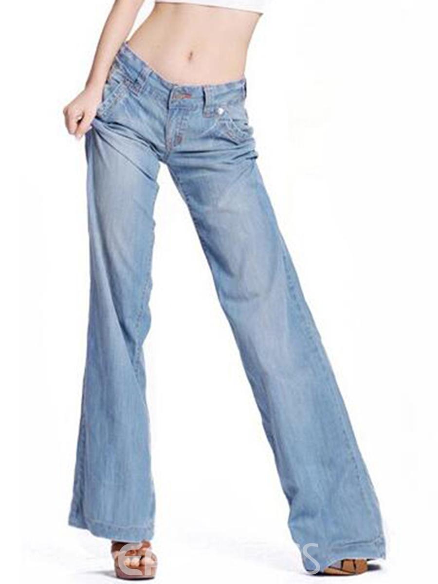 Ericdress Long Style Wide Legs Jeans