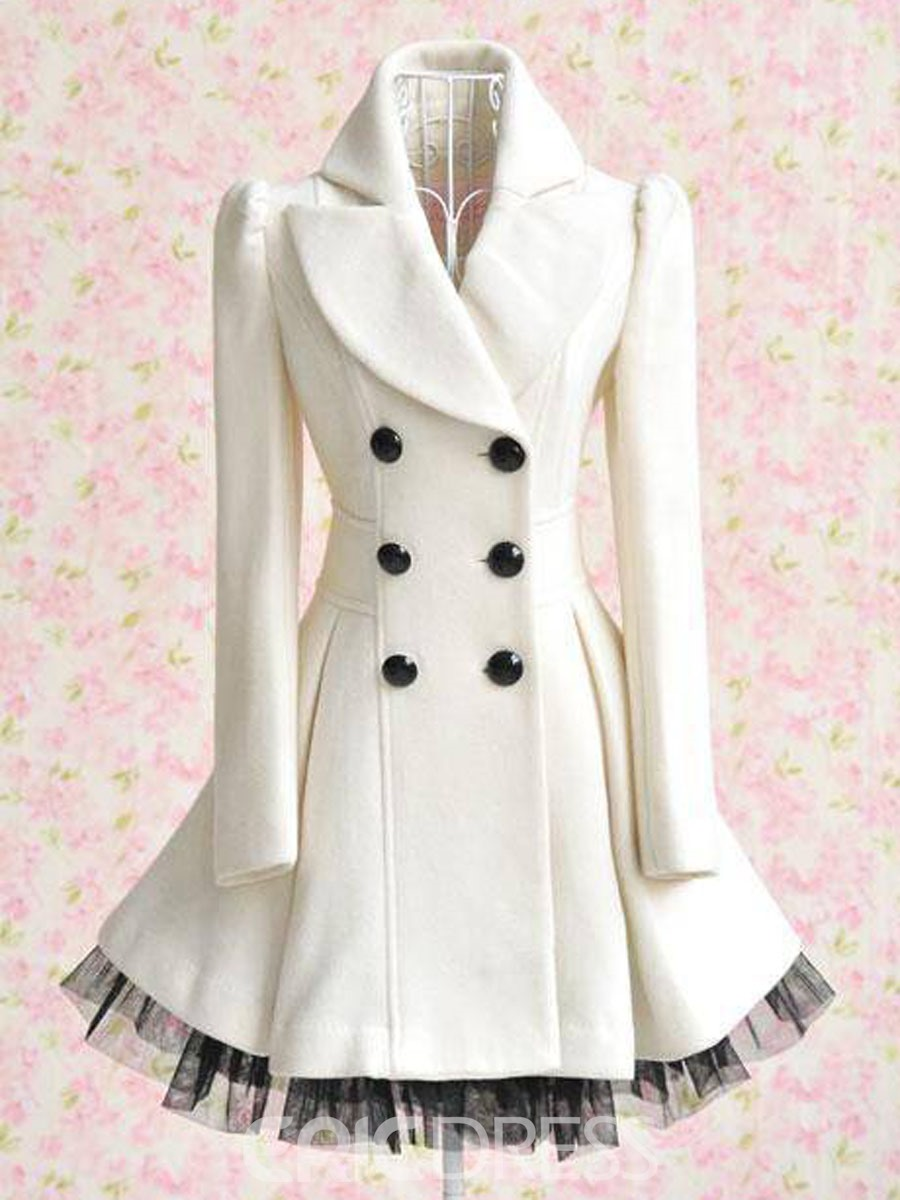 Ericdress Glamorous Wool Yarn Double-breasted Overcoat