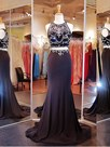 Ericdress Two Pieces Trumpet Jewel Beading Court Train Prom Dress