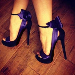 Fashion Purple Sexy Bowknot High Heel Prom Shoes ericdress