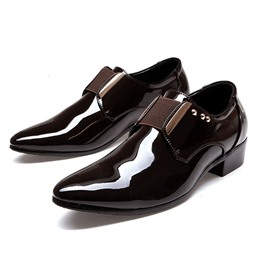 Ericdress Pointed Toe Slip-On Men's Oxfords with Buckle