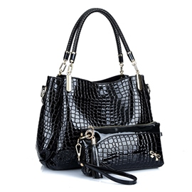 Ericdress Europeamerica Trendy Croco Handbag(2 Bags)