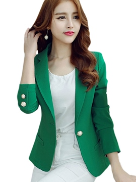Ericdress OL Style Solid Color Blazer