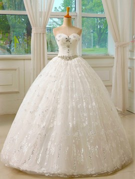 Ericdress Pretty Sweetheart Beading Ball Gown Wedding Dress