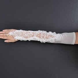 Luxury Lace Fingerless Wedding Bridal Glove