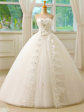 Ericdress Sweetheart Appliques Ball Gown Wedding Dress