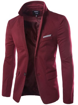 Ericdress Single-Breasted Color Block Patchwork Men's Blazer
