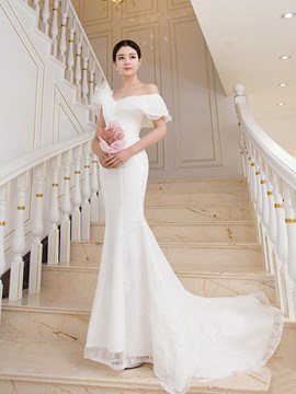 Ericdress Mermaid Off the Shoulder Wedding Dress