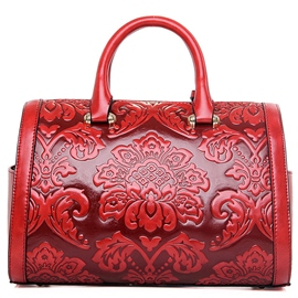 Ericdress Luxury Vintage Flower Embossed Handbag