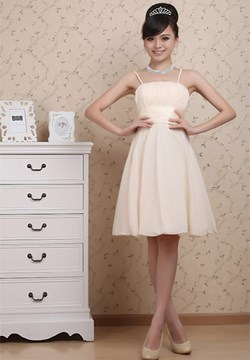 Simple A-Line Knee-length Prom/Bridesmaid Dress