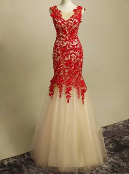 Sumptuous Mermaid Straps Full Length Lacey Prom/Evening Gown