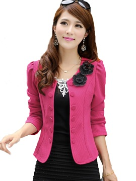 Ericdress Retro Slim double-breasted Cardigan fantaisie Blazer