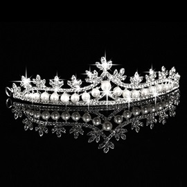 Ericdress Shiny Rhinestone Pearls Wedding Tiara