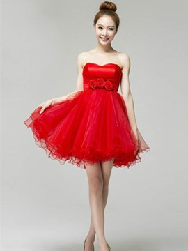 Stylish Sweetheart Lace A-Line Homecoming Dress