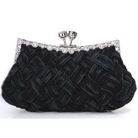 Élégant Satin strass sac à main pour Wedding/Evening(7colors)