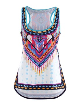 Ericdress Slim Geometric Ethnic Vest